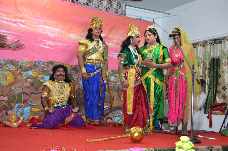 The Students of the College enacted Sanskrit Drama
